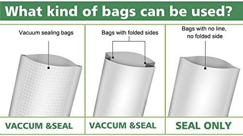 Vacuum Sealer, Automatic Food Sealer Machine Vacuum Air Sealing System for Food Savers, Household Food Preservation Machine, Include Sealing Bags