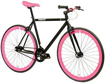 FabricBike Bicicleta fixie, piñón fijo, monomarcha, cuadro de ...