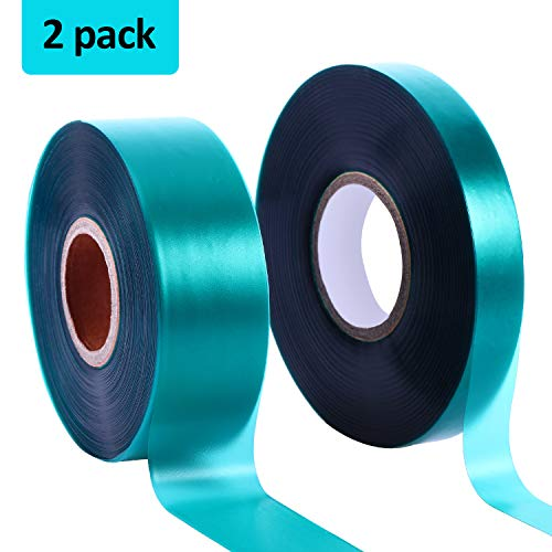 Boao 2 Rolls 150 Feet Stretch Tie Tape 0.5/1 Inch Garden Tie Tape Thick Plant Ribbon Garden Green Vinyl Stake for Indoor Outdoor Patio Plant Use (Gardening Tape)