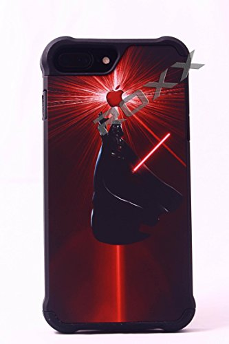 Price comparison product image Darth Vader-iPhone 7+ PLUS (5.5) ROXX Star Wars Tough 3 Rubber Protective Hard Shell Case