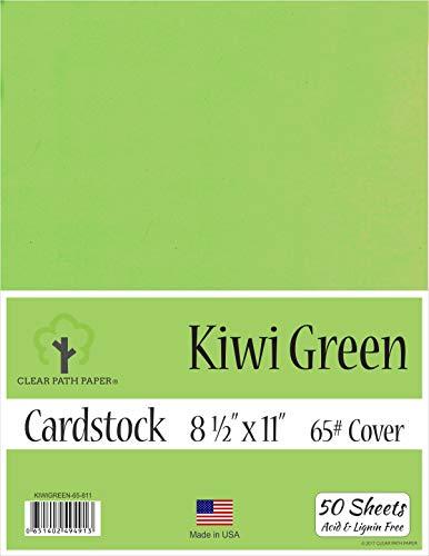 Kiwi Green Cardstock - 8.5 x 11 inch - 65Lb Cover - 50 Sheets