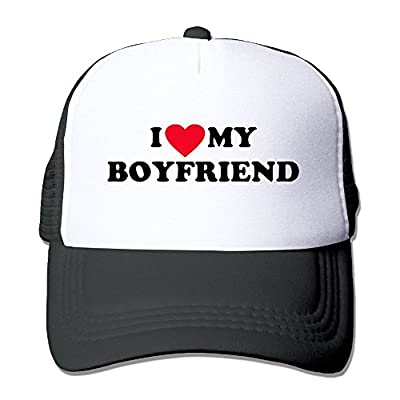 I Heart My Boyfriend Men's Women's Adjustable Snapback Hats Hip Hop Caps | Baseball Caps Mesh Back