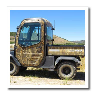 - 3dRose Jos Fauxtographee- Diesel 4 X 4 - A Diesel 4 by 4 Vehicle for Getting Around in Camouflage - 6x6 Iron on Heat Transfer for White Material (ht_307540_2)