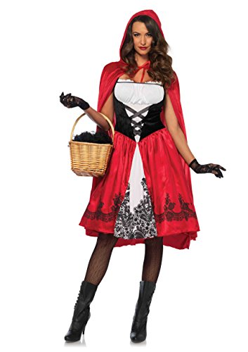 Leg Avenue Women's Classic Red Riding Hood Costume, Medium -