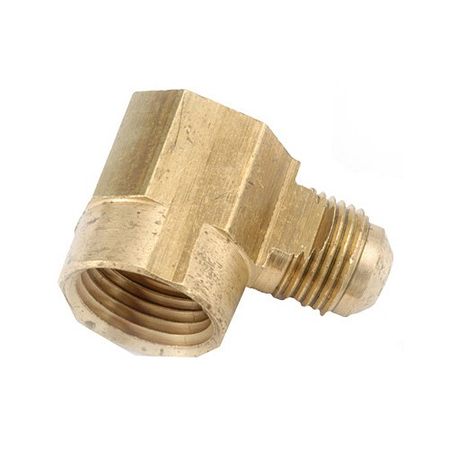 anderson metals corp 714050-0808 1/2 -Inch Flare x 1/2 -Inch Female Iron Pipe Thread, 90 Degree Elbow