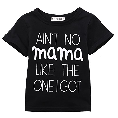 AIN'T No Mama Like the One I Got Funny Baby T-Shirt Short Sleeve Tops (0-6 Months, - Co Fashion Zero