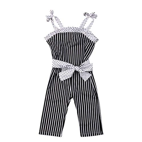 QIBOOG Toddler Kids Baby Girl Summer Jumpsuits,
