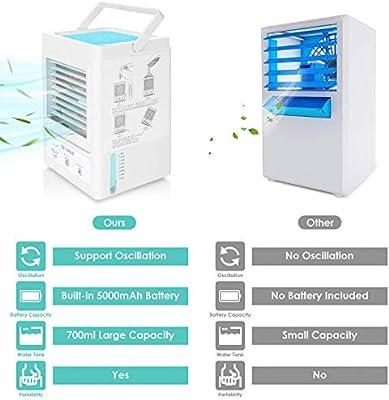 Aire acondicionado móvil 5000 mAh Refrigerador de espacio ...