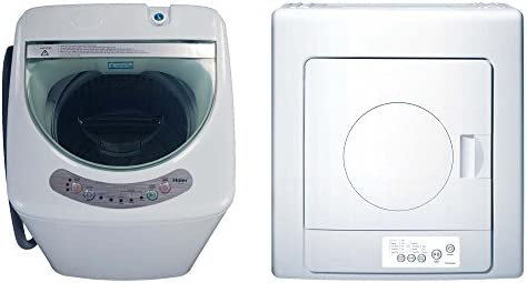 Haier 1.0-Cubic Foot Portable Compact Washing Machine + 2.6 cu. ft. Vented Dryer