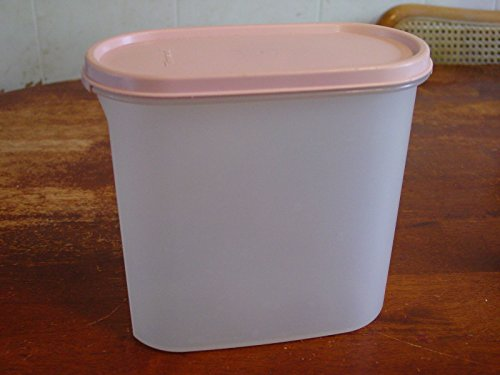 Vintage Tupperware #3 Modular Mates 7.25 cups Storage Container Canister with Pink Lid
