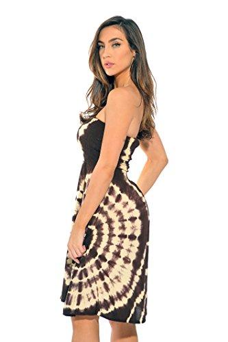 21612-BC-L Riviera Sun Strapless Tube Short Dress / Summer Dresses