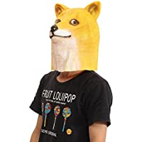 New Doge Head Mask Creepy Animal Halloween Costume Theater Prop Latex Party Toy By KTOY