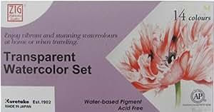 Zig WSKG3011 Kuretake acuarela transparente - 14 Colores Set-
