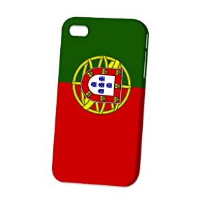 Case Fun Apple iPhone 4 / 4S Case - Vogue Version - 3D Full Wrap - Flag of Portugal