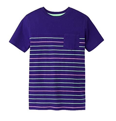 - Cat & Jack Boys' Short Sleeve T-Shirt- Variety - (Gleaming Stripe, M(8/10))