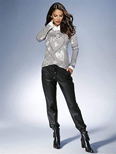 Rotondo Manica Grau Eleganti Autunno Collo Shirts Giovane Moda Lunga Modello Diamante Camicie Stampate Grazioso Camicetta Donna Casual Di Invernali Cuore Camicia CSxP6qR