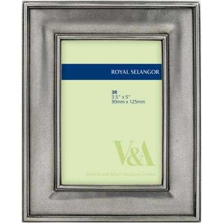 Royal Selangor 013060A Old English Photoframe 3.5'' X 5'', One Size, Pewter