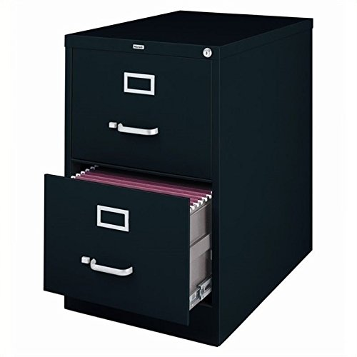 2 Legal Drawer - 2-Drawer Commercial Legal Size File Cabinet Finish: Black