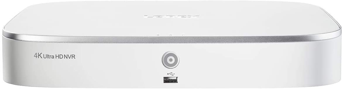 Lorex N841A82 4K Ultra HD 8-Channel Network Video Recorder with Smart Motion Detection and Voice Control