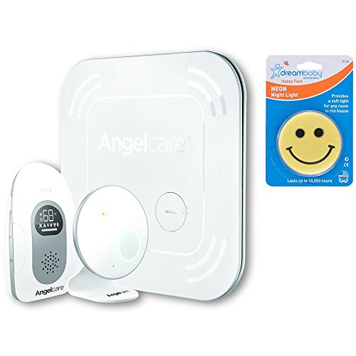 Angelcare Baby Sound and Breathing Monitor with Wireless Sensor Pad with Night Light