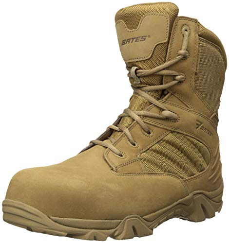 - Bates Men's GX-8 Waterproof Composite Toe Side Zip Military and Tactical Boot, Coyote, 10.0 Extra Extra Wide US