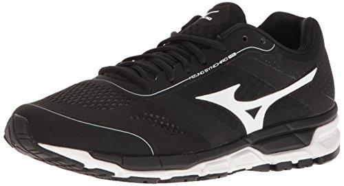 Mizuno Turf Shoes - Mizuno Men's Synchro Mx Baseball Shoe, Black/White, 11 D US