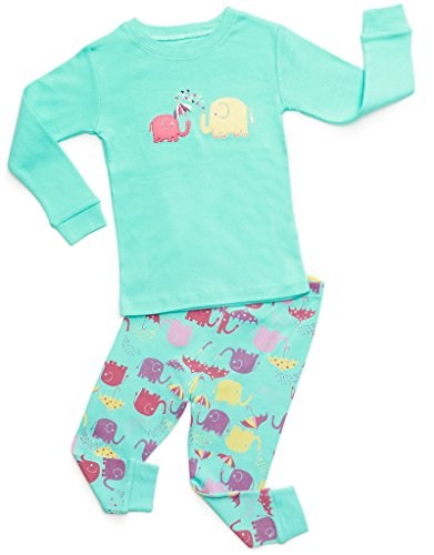 DinoDee Elephant 2 Piece Pajama Set 100% Cotton 3 Years