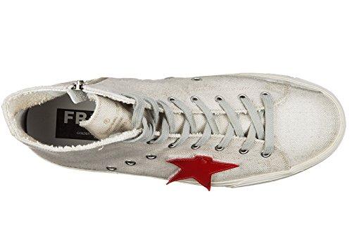 Golden Goose scarpe sneakers alte uomo nuove francy grigio
