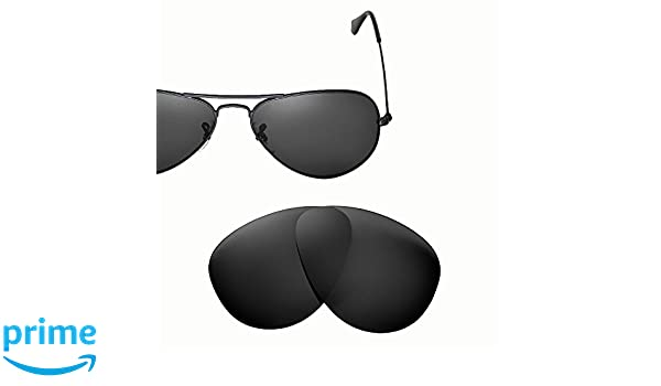 777e1bbcb6 Amazon.com  Cofery Replacement Lenses for Ray-Ban Aviator RB3025 55mm  Sunglasses - Multiple Options Available (Black - Polarized)  Clothing