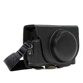 MegaGear MG283 Sony Cyber-shot DSC-RX100 VI, DSC-RX100 V, DSC-RX100 IV, DSC-RX100 III Ever Ready Leather Camera Case with Strap - Black (B00E1TQM76) | Amazon price tracker / tracking, Amazon price history charts, Amazon price watches, Amazon price drop alerts