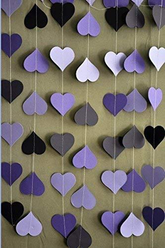 Purple wedding decoration, purple wedding garland, Heart garland, Wedding decoration, Wedding decor, Wedding garland,Bridal shower decor