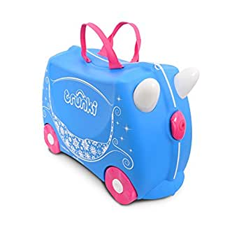 Trunki Children's Ride-On Suitcase & Hand Luggage: Princess Pearl (Purple)
