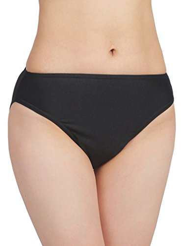 (Speerise Adult Spandex Nylon High Leg Cut Dance Panty Briefs, XXL, Black)