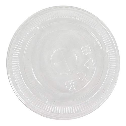12/16/22 oz Plastic Drink Cup Lid - Made of Heavy Duty Plastic - Fits Our Frozen Dessert Supplies Paper Drinking Cups! 50 Count