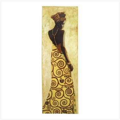 African Princess Painting Print Wall Decor Canvas Wood: Amazon.co.uk ...