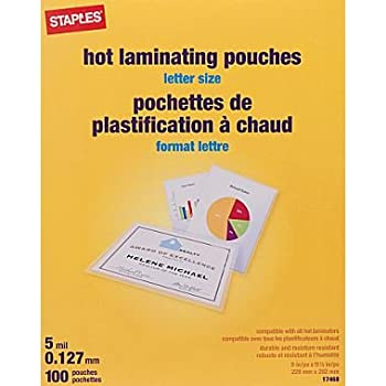 Amazon Com Staples Letter Size Thermal Laminating
