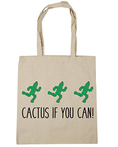 HippoWarehouse 42cm Cactus litres 10 Bag Beach Shopping Natural Gym Tote If You Can x38cm 11zqrHw