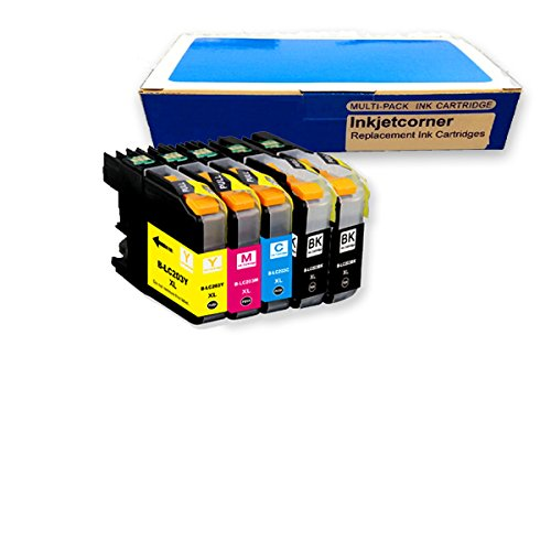 Inkjetcorner 5 Pack Compatible Ink Cartridges Combo + Chip for Brother LC203 LC203XL BLC203 MFC-J460DW MFC-J480DW MFC-J485DW MFC-J680DW MFC-J880DW MFC-J885DW