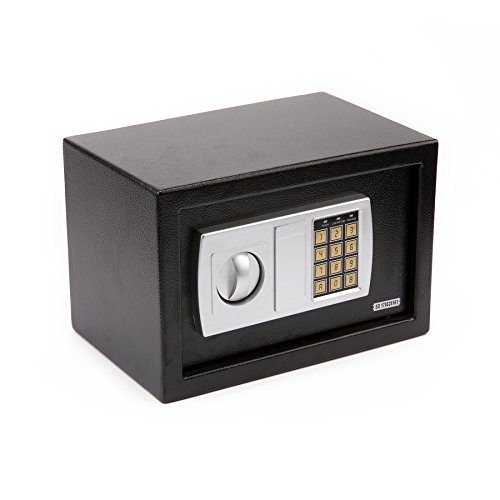 Security Safe Box Electronic Digital Lock for Gun Cash Jewelry Valuable Storage, 0.44 Cubic Feet …