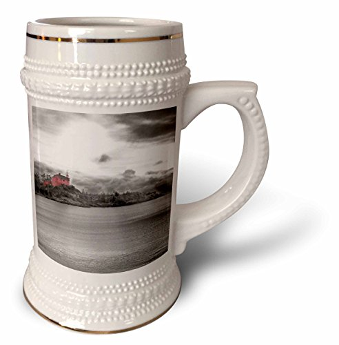Perkins Designs Cities And Structures - Light House 2 red Coast Guard station light house photographed on Lake Superior - 22oz Stein Mug (stn_19936_1) ()