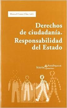 Book Derechos de ciudadanía. Responsabilidad del Estado