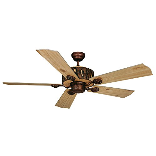 Vaxcel FN52265WP Log Cabin Ceiling Fan, 52″, Weathered Patina Finish
