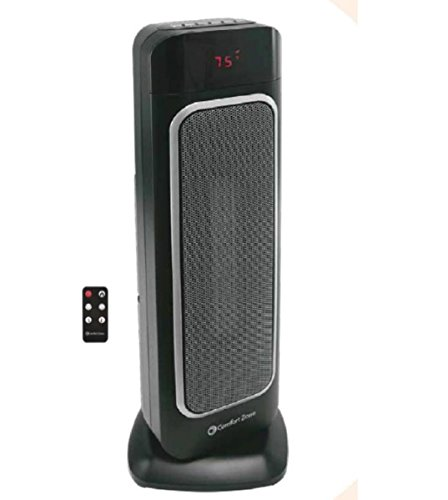 "Comfort Zone CZ523RBK 23"" Ceramic Tower Heater Ceramic Heaters World & Main, LLC"