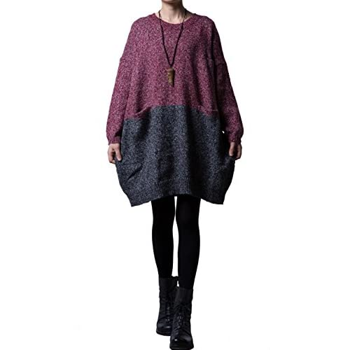 86c3672f9 hot sale 2017 Mordenmiss Women s Oversized Pullover Knit Sweater Top ...