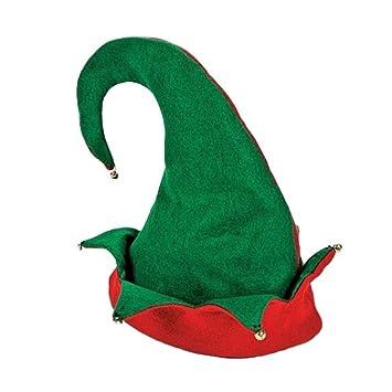 amazon com felt elf hat red green one size clothing
