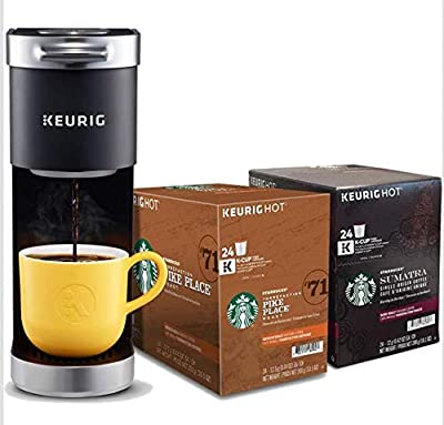 Keurig K-Mini Plus Single Serve K-Cup Pod Coffee Maker, with 6 to 12oz Brew Size, Stores up to 9 K-Cup Pods, Travel Mug Friendly