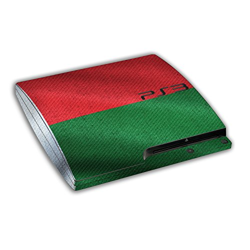 "Sony Playstation 3 Slim Design Skin ""flag of Madagascar"" Decal Sticker for Playstation 3 Slim"