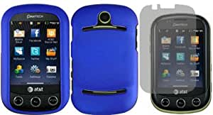 Blue Hard Case Cover+LCD Screen Protector for Pantech Pursuit 2 P6010