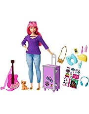 Barbie FWV26 Daisy Travel Doll with Accessories - Multi Color