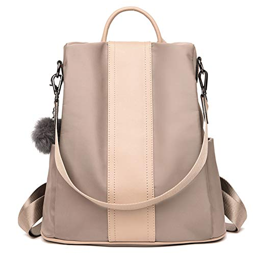 Z-joyee Casual Purse Fashion School Backpack Shoulder Bags for Women & Girls, Khaki